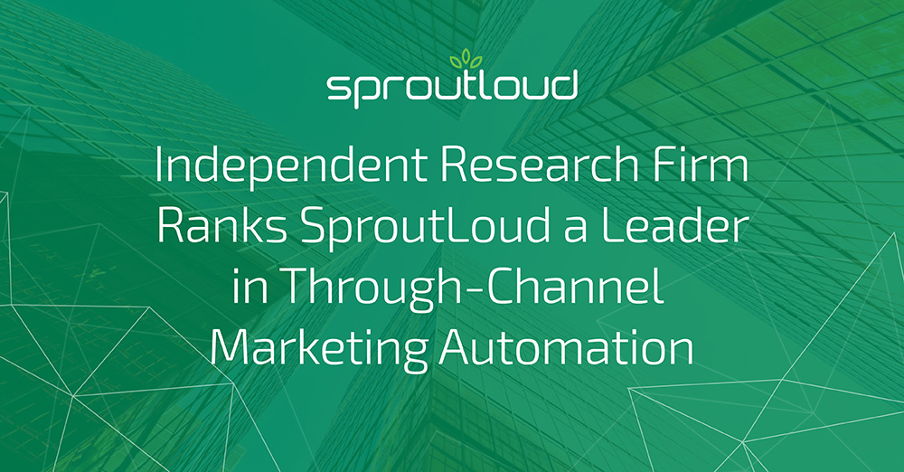 Independent Research Firm Ranks SproutLoud a Leader in TCMA