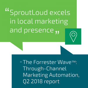 SproutLoud excels in Local Marketing and presence - according to Forrester Research