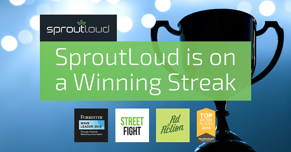 SproutLoud is on a Winning Streak
