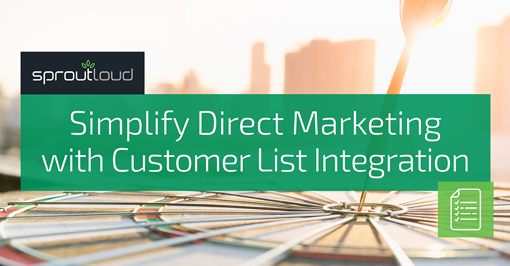 Simplify Direct Marketing with Customer List Integration