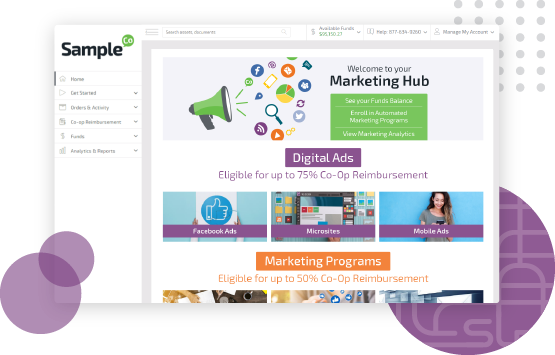 Partner Portal feature within comprehensive SaaS marketing platform