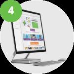 computer displaying SproutLoud SaaS marketing platform