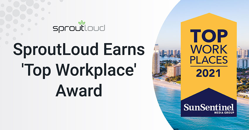 SproutLoud Earns Top Workplace Award