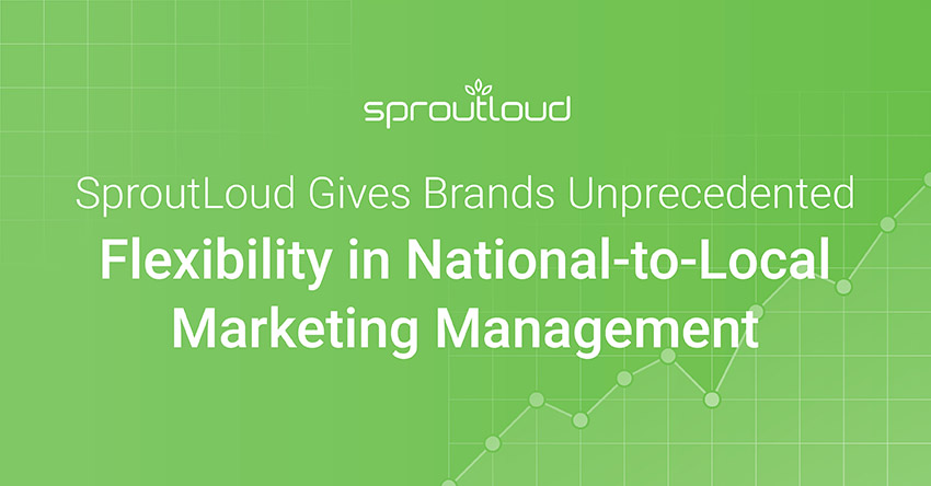 SproutLoud Analytics Gives Brands Unprecedented Flexibility in National-to-Local Marketing Management