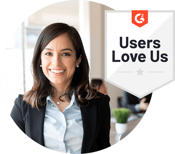 Users Love Us – 2021 – by software review platform G2