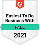 Easiest to do Business with – 2021 – by software review platform G2